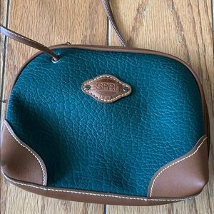 🍂 Vintage Esprit Green Leather Crossbody Handbag